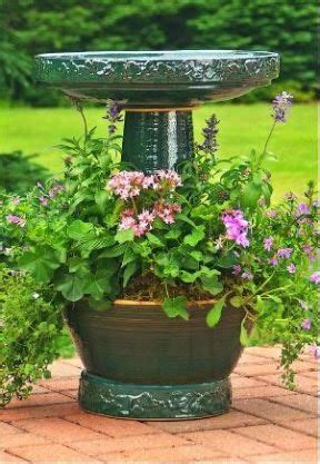 25 best ideas about bird bath planter on