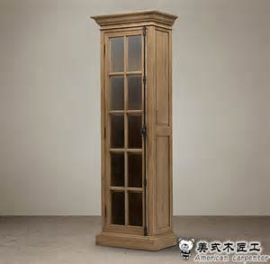 Solid Wood Bookcases With Glass Doors Single Door Oak Bookcase American Country European Solid Wood Bookcases Cabinet Study Single