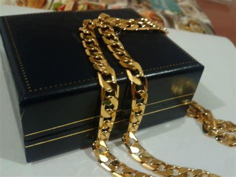 cadena de oro puro precio cadena collar 60cm x 8mm oro laminado 18k 830 00 en