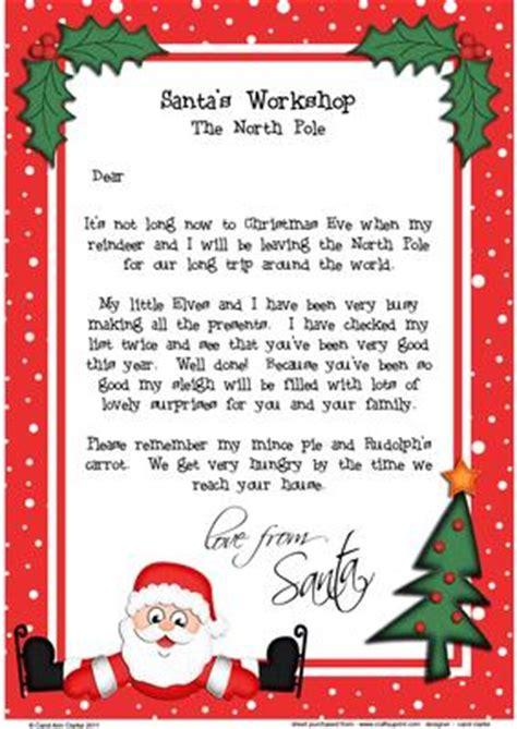 Late Gift Letter From Santa skating santa a4 child s letter from santa