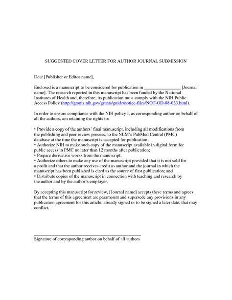 cover letter journal sle cover letter for publication 28 images cover letter