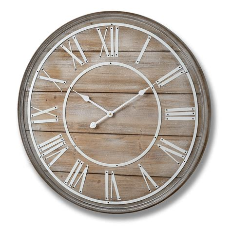large wooden wall clock 80cm bedroom furniture direct