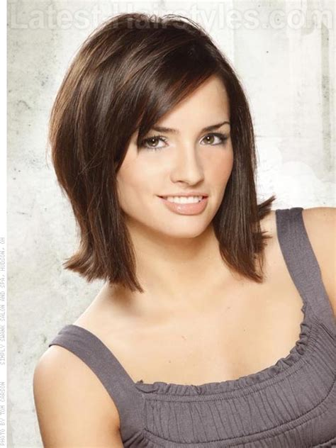 modern shoulder length hairstyles shoulder length bob flip up hairstyle