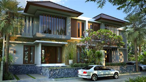 gambar desain rumah minimalis gaya bali yang indah