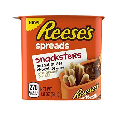 Reeses Snacksters reese s spreads snacksters peanut butter chocolate with