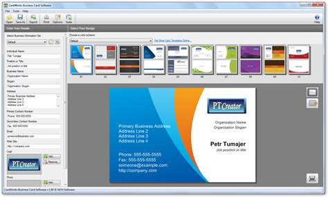 Cardworks Business Card Software Templates by Cardworks Free Business Card Software Review Choice Image