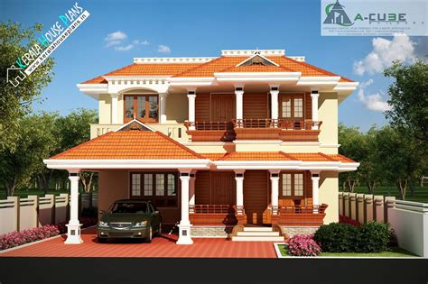 Two Story Bungalow House Plans by Beautiful Kerala Traditional House Design Kerala House