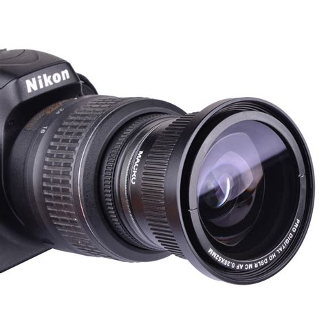 Lensa Fisheye Nikon D90 lens 0 35x 52mm fisheye wide angle for nikon d7000 d7100 d5200 d5100 d5000 d3100 d3000 d90