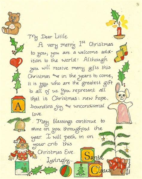 free printable baby s first letter from santa 17 best images about letters to santa on pinterest