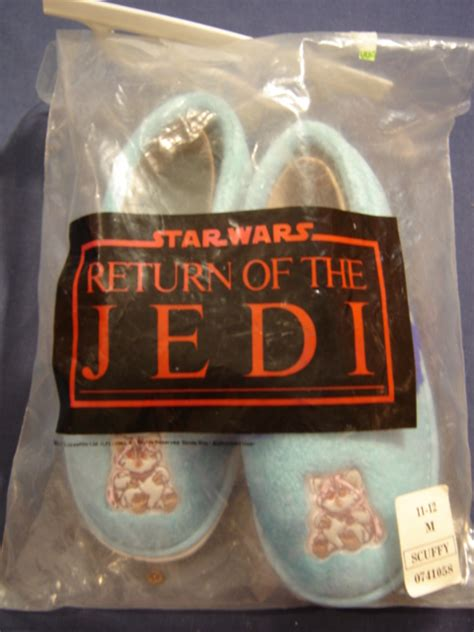 ewok slippers ewok light blue slippers wars collectors archive