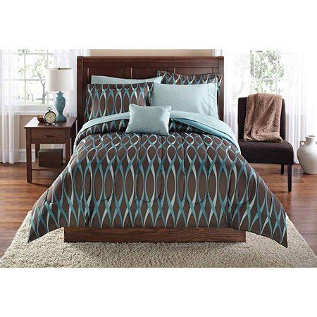 Walmart Bedding by Mainstays Wavy Bed In A Bag Bedding Set Walmart