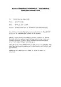 Retirement Announcement Sles by Letter Announcing Employee Termination To Clients Letter To Announce Employee Leaving How Do