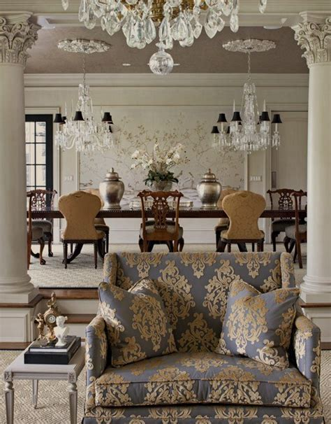 incredible damask chair living room furniture decorating gray damask sofa french dining room luxe interiors