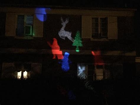 versonel led colorful christmas outdoor projection laser