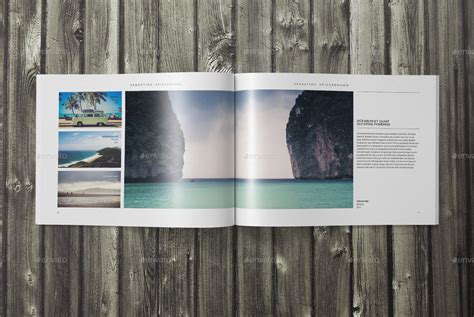 Indesign Landscape Photo Book Template By Sacvand Graphicriver Indesign Landscape Template
