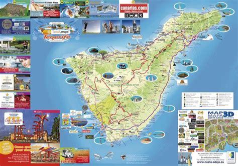 carte touristique de tenerife espagne en  tenerife