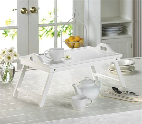 bed breakfast table white bed tray table 10015526