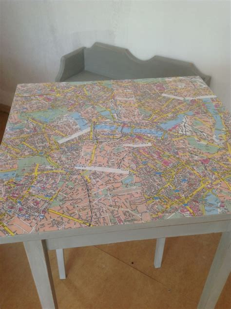 Table Decoupage - decoupage table top using maps finn s bakery cafe