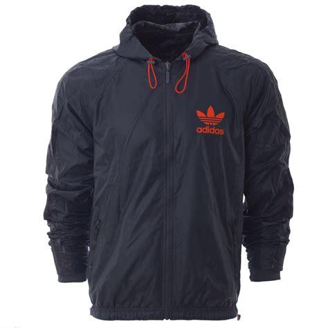 Jaket Adidas Outewear Original Brandedsyndicate 1 mens adidas originals camo reversible trefoil windbreaker jacket hooded coat ebay
