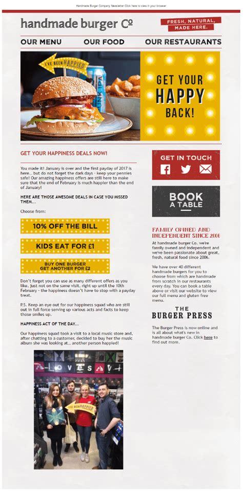 Handmade Burger Co Voucher - handmade burger co email design inspiration