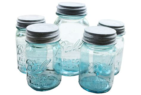 ball mason collection of ball mason jars w zinc tops omero home