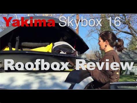Yakima Skybox 16 Classic Roof Box Review - yakima skybox carbonite 18 car roof rack cargo box 8007