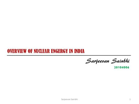 Mba Nuclear Energy Management by Exe Mba Ee Nuclear Energy Sarjeevan