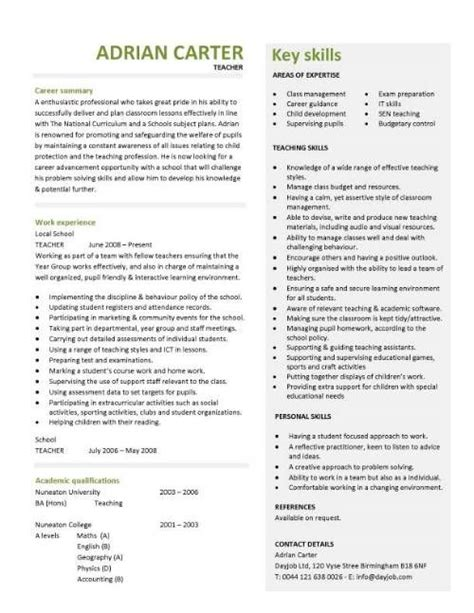 Cv Template For Teachers 25 Best Ideas About Resume Template On Application Letter For