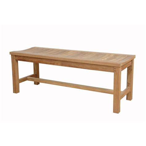 teak patio bench shop anderson teak madison 18 in w x 48 in l teak patio