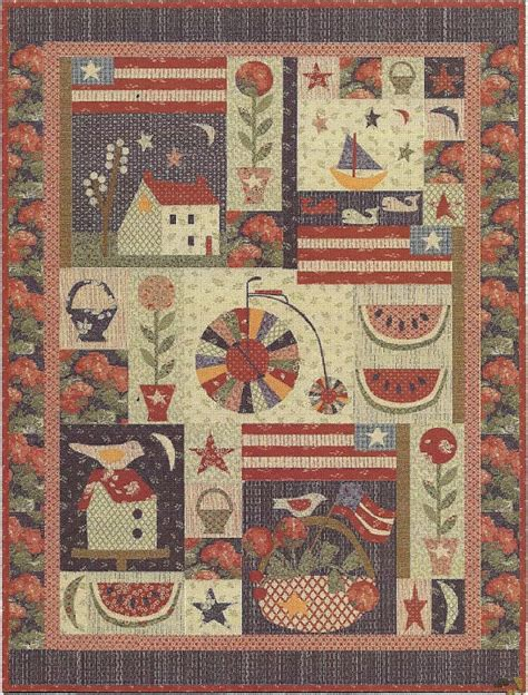 Folk Quilt by Primitive Folk Quilt Pattern Front Porch By