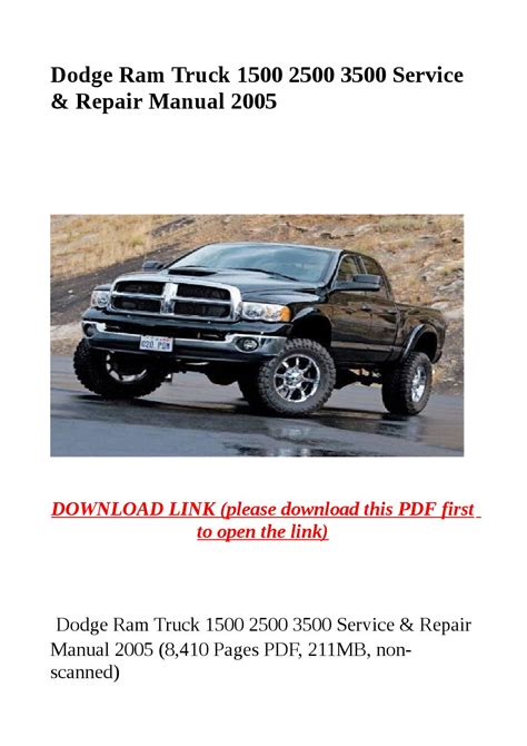 service manual dodge ram 1500 2500 3500 repair manual download dodge ram 2007 2008 dodge ram dodge ram truck 1500 2500 3500 service repair manual 2005 by herrg issuu