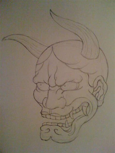 hannya mask tattoo sketch hannya drawing tattoo forrest