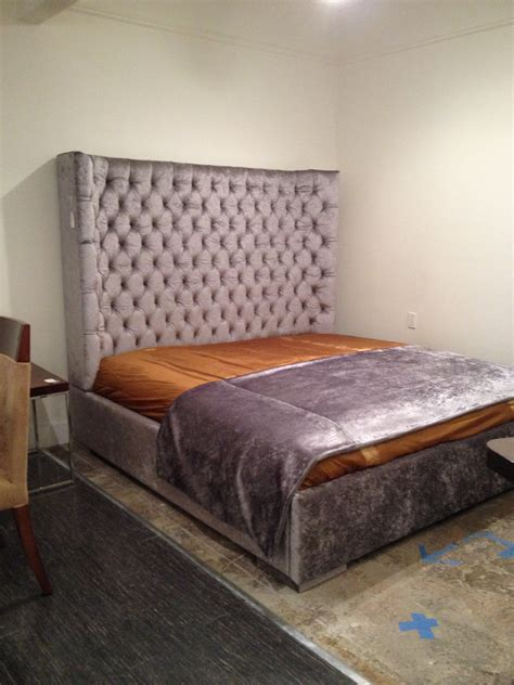 tufted headboard king size bed king size wing tufted bed