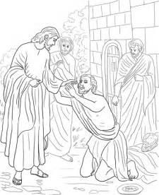 coloring page jesus heals blind jesus heals boy coloring page coloring pages
