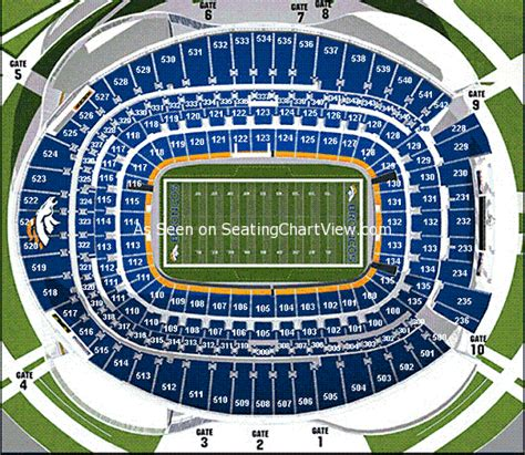 sports authority seating sports authority field at mile high denver co seating