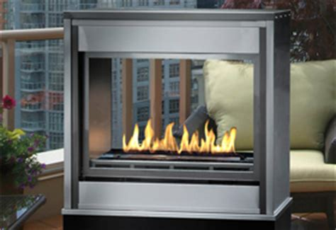 See Through Ventless Gas Fireplace by Canadian Heating Products Montigo Product View