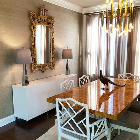 gold wallpaper dining room white and gray dining room with grasscloth wallpaper