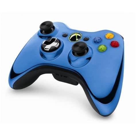 chrome xbox 360 controller official microsoft blue chrome wireless controller xbox