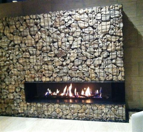 Gas Fireplace Las Vegas by Modern Gabion Basket Fireplace Gabion Walls