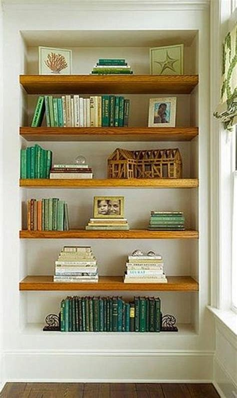 how to decorate built in shelves diy floating shelves