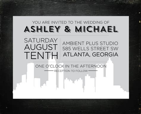 Wedding Invitations Atlanta by Best Selection Of Wedding Invitations Atlanta Theruntime