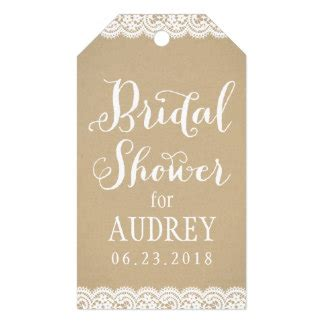 Bridal Shower Tags bridal shower favor tag lace and kraft pack of gift tags