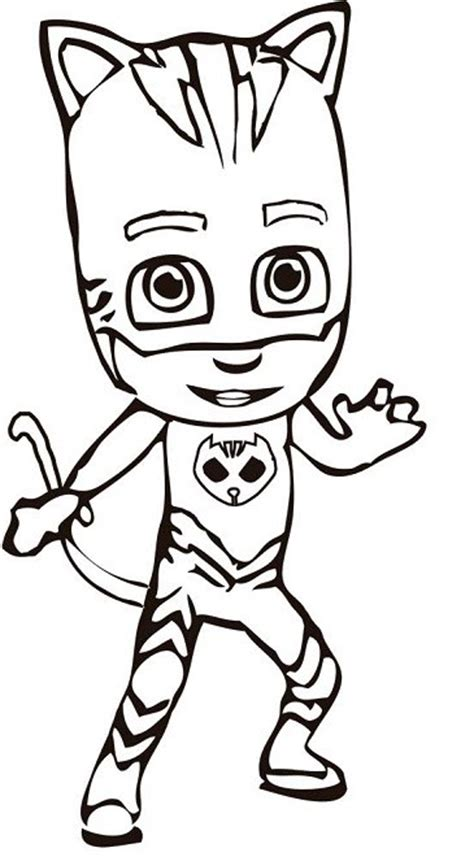 pj masks coloring pages black and white dibujos para colorear pjmasks h 233 roes en pijamas todo