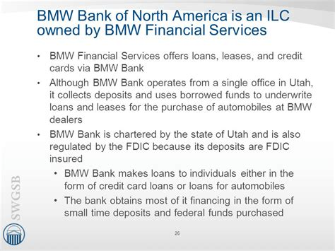 bmw bank utah the performance of nontraditional banking companies