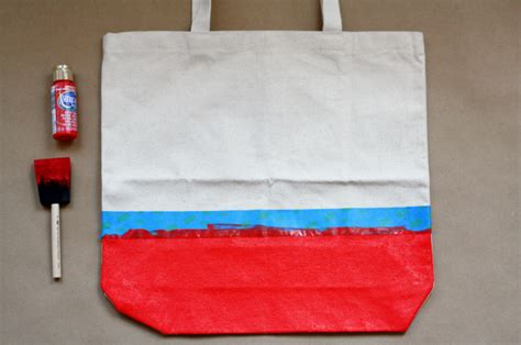 does acrylic paint work on canvas bags diy ready tote bag pretty