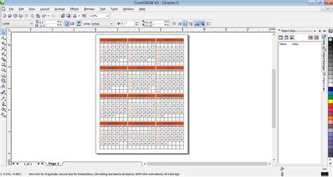 cara desain gambar kalender membuat desain kalender sederhana menggunakan coreldraw x3