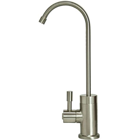 single handle standard kitchen faucet in brushed nickel