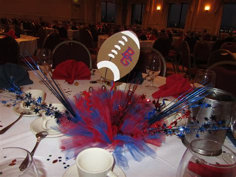 Football Banquet Centerpiece Touchdown Pinterest Soccer Banquet Centerpiece Ideas