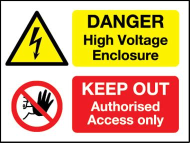 high voltage construction standards hazard mod t2 danger high voltage enclosure keep out
