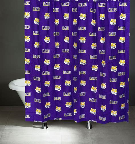 lsu curtains ncaa louisiana state tigers shower curtain lsu bathroom